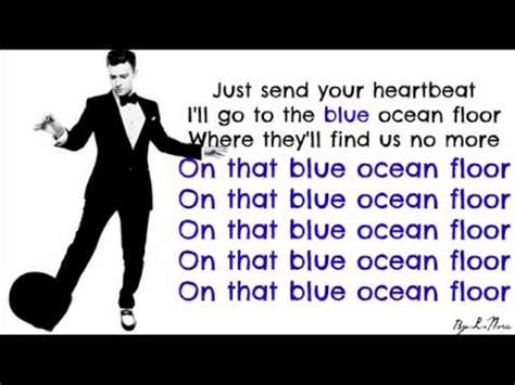 traduction blue floor justin timberlake en fran 231 ais