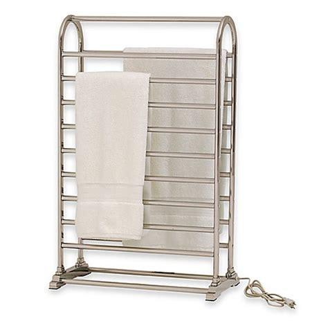 Vauxhail Towel Warmer And Dry Rack  Satin Nickel Bed