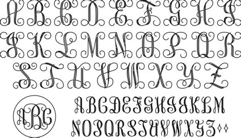 interlocking monogram script designs pinterest fonts vines  monograms