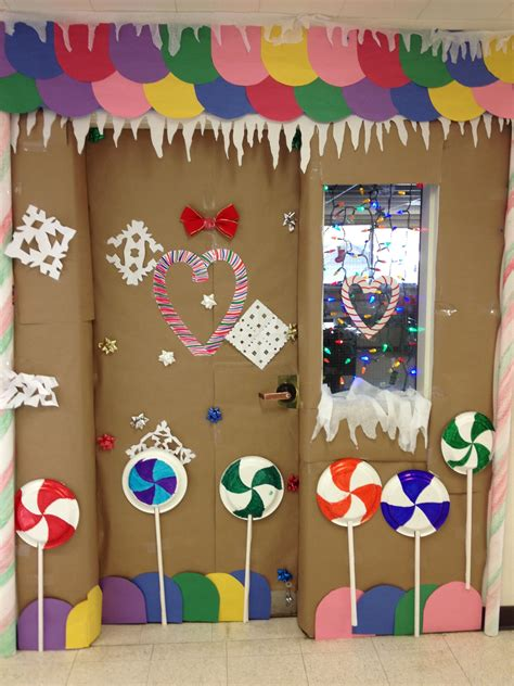gingerbread house classroom door decorating  place