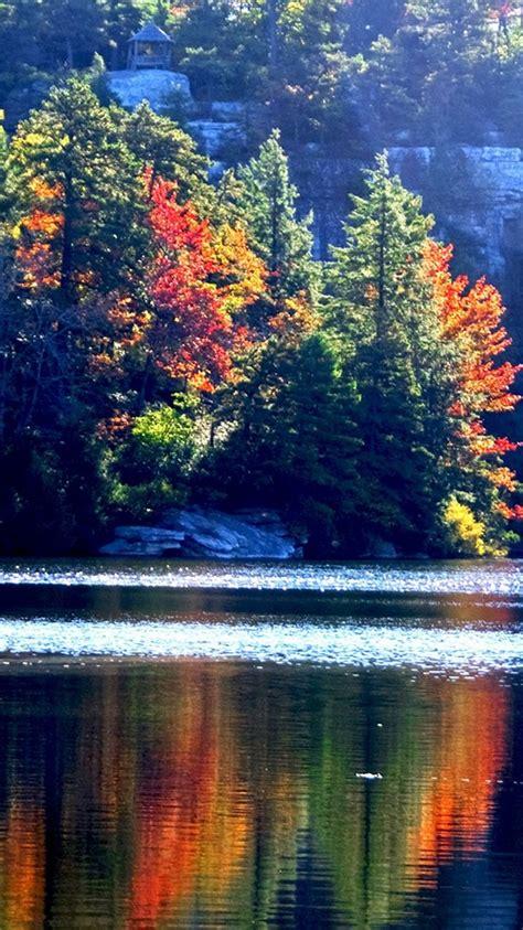 Iphone 11 Wallpaper Hd Autumn by Lake Minnewaska Autumn Iphone 6 Wallpaper Hd Free