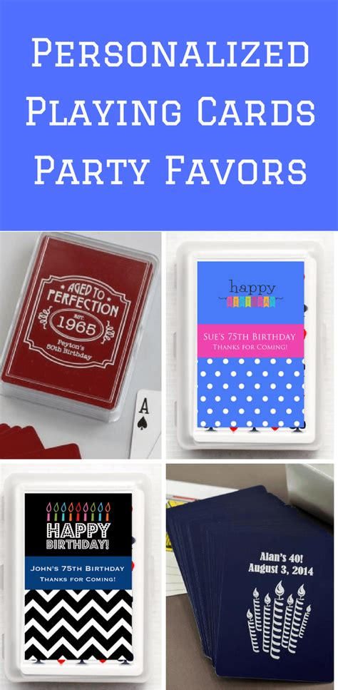 Alized Playing Cards Party Favors Th  Ee  Birthday Ee    Ee  Ideas Ee