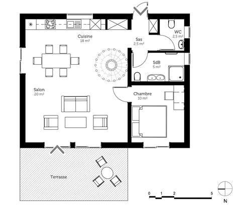 plan maison 70 m 178 avec mezzanine ooreka