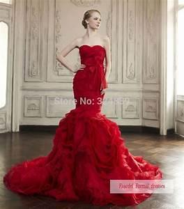 Jolie rouge robe de mariee sirene robe de bal robe de for Robe de reve