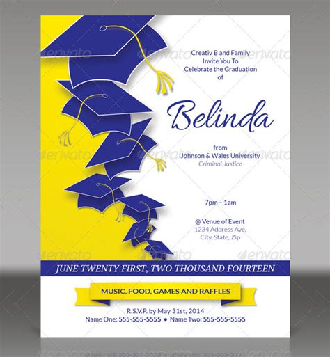 graduation program template 19 graduation invitation templates invitation templates free premium templates