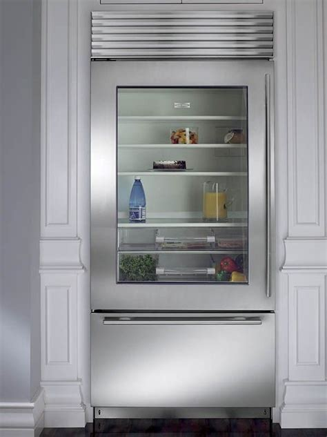 image result    glass front refrigerator