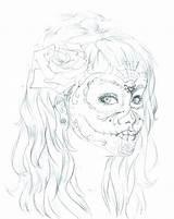 Makeup Coloring Printable Getcolorings sketch template