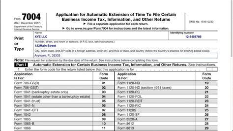 how to file an llc extension form 7004 youtube