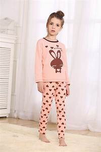 Size Chart Retail Girls Long Sleeves Cartoon Pajama Sets For Spring