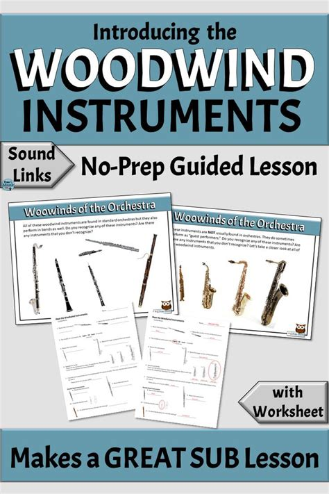 Do you enjoy making things? Musical Instrument Families | Introducing the WOODWIND Family | Music education lessons ...