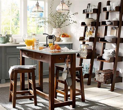 echelle de cuisine étagère échelle gagner de la place avec astuce