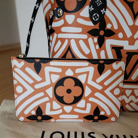 louis vuitton neverfull crafty giant mm limited edition caramel black coated canvas shoulder bag