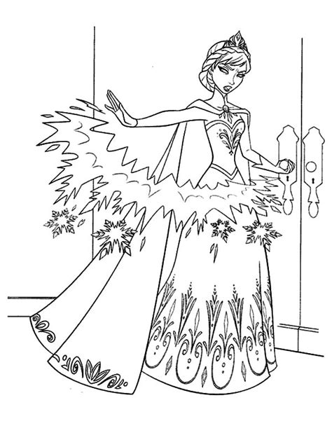 This page lists and classifies both official and unofficial princesses and heroines. Queen Elsa Make Barrier From Ice Coloring Pages : Coloring Sky