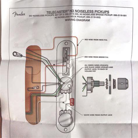 fender noiseless tele wiring diagram 44 wiring