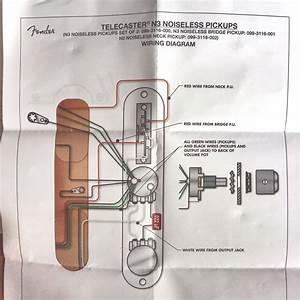 Fender Telecaster N3 Noiseless Pickups Wiring Diagram