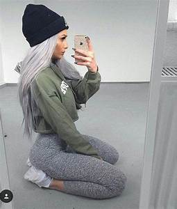 Shirt outfit leggings green sweater top cropped hoodie sweater cropped sweater black ...