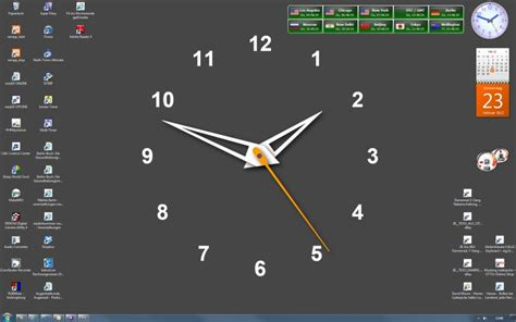 Desktop Time Zone Clock, Time Zone