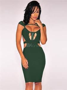 black bodycon dress sexy clubwear cut out sheath dress for With robe sexies