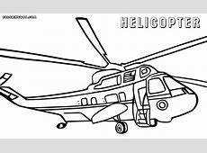 Helicopter Free Colouring Pages