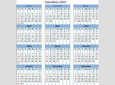 Calendário 2005 Online