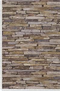 Tapisserie 4 Murs : papier peint trompe l 39 il pierres plates naturelle wood ~ Zukunftsfamilie.com Idées de Décoration