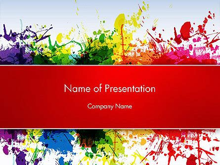 splashes  watercolor powerpoint template backgrounds