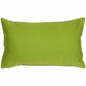 Sunbrella Macaw Green 12x20 Outdoor Pillow from Pillow Decor