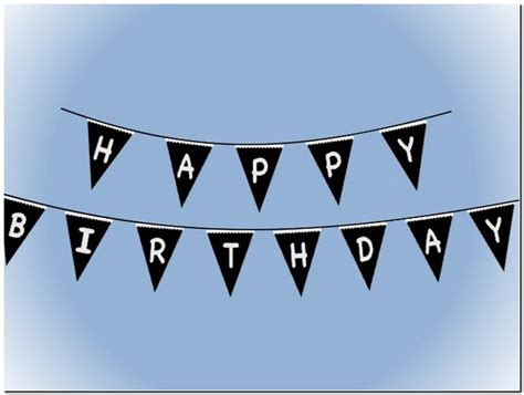free printable happy birthday banner black and white pictures reference
