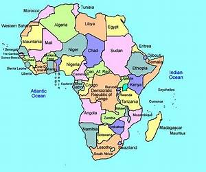 Nice colorful printable Africa map showing political ...