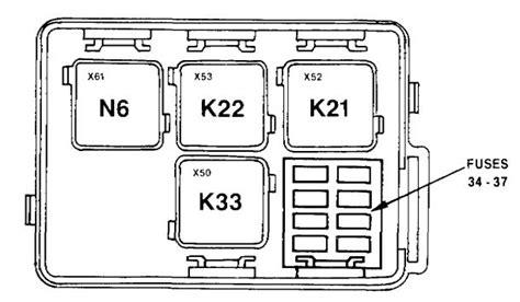 bmw 730 735i 735il 750il e32 1991 fuse box diagram carknowledge