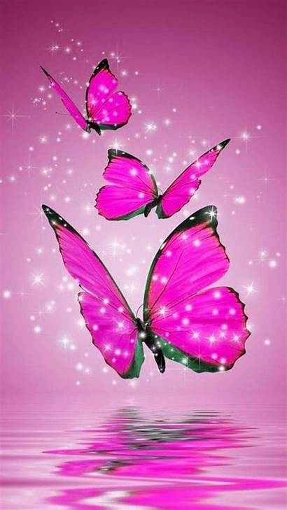 Pink Butterflies Butterfly Android Wallpapers Widescreen