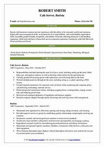 Maintenance Resume Example Barista Resume Samples Qwikresume