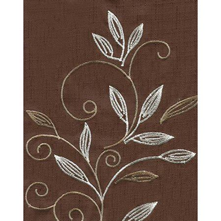 CHF & You Scroll Leaf Back Tab Rod Pocket Tier Curtain