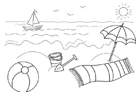 spiaggia disegni estate colorati i disegni mare da colorare