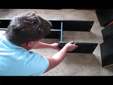 unboxing and assembling mainstays l shaped desk with hutch