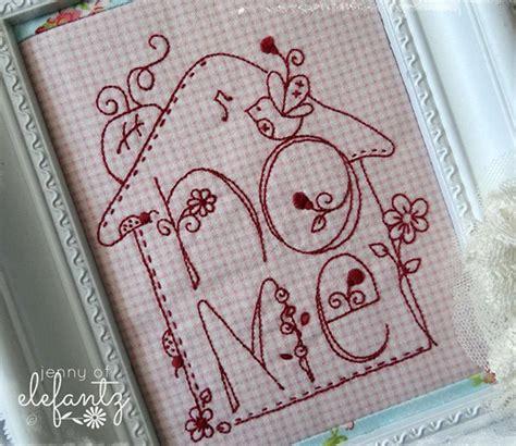 trend alert  retro   redwork embroidery