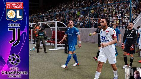 pes  lyon  juventus uefa champions league