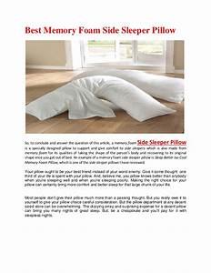 best memory foam side sleeper pillow With best memory foam pillow for side sleepers