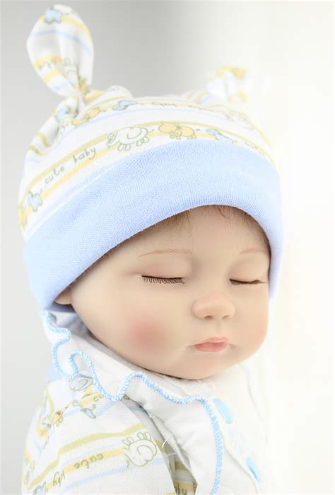 Top Quality 45cm Soft Silicone Life Like Doll With Sleeping