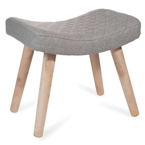 Repose Pied Maison Du Monde C401 Stool In Walnut And White Oak Bar Counter Height
