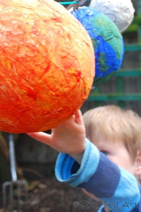 paper mache solar system fun family crafts