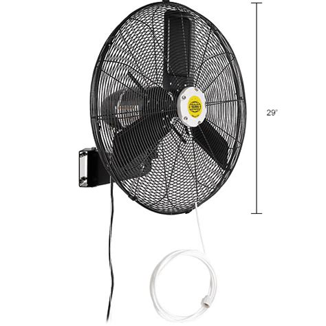 wall mount misting fan evaporative coolers sw coolers misting fans 24