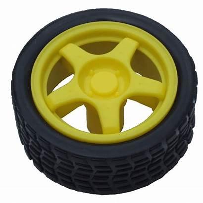 Yellow Wheel Gear Motor Banana Wheels Data
