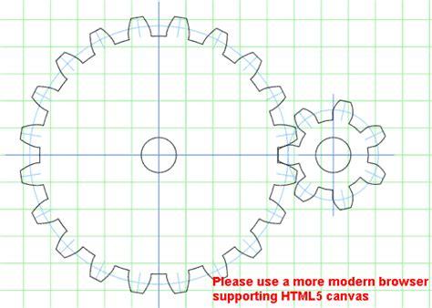 gear template generator  making paper cutting