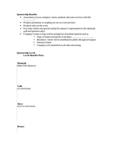 proposal sample  sponsorship letter