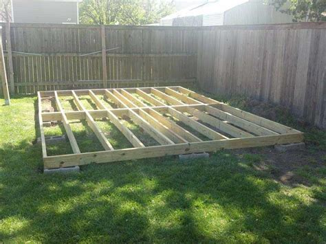 12x16 Floating Deck Plans by Shed Construction The Home Depot Community