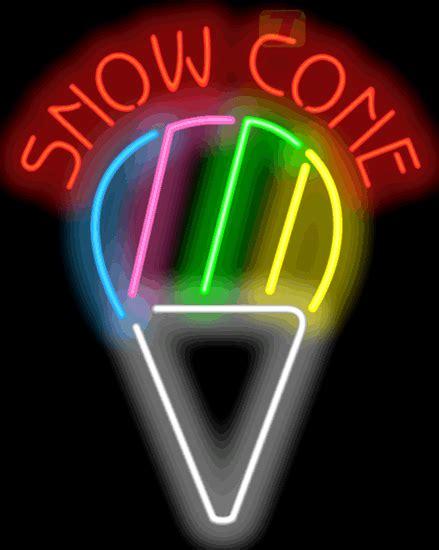 snow cone neon sign fd   jantec neon