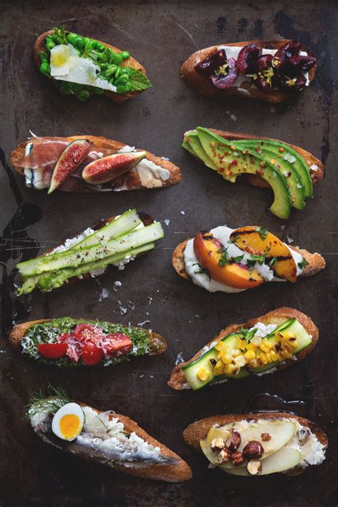 canape toppings picks end of summer recipes