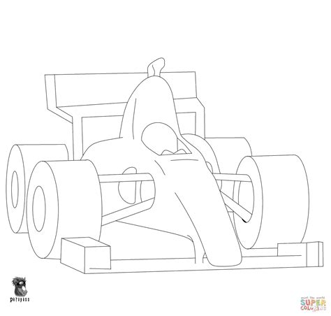Kleurplaat Formule 1 by Kleurplaat Formule 1 Rennwagen Der Formel 1