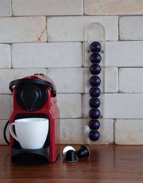 There are so much of them, nobody even knows what flavors are there and you are looking for some organization ideas. Clear Nespresso Original Capsules Holder, 10 Coffee Pod Storage, Small Fridge Magnetic Wall ...